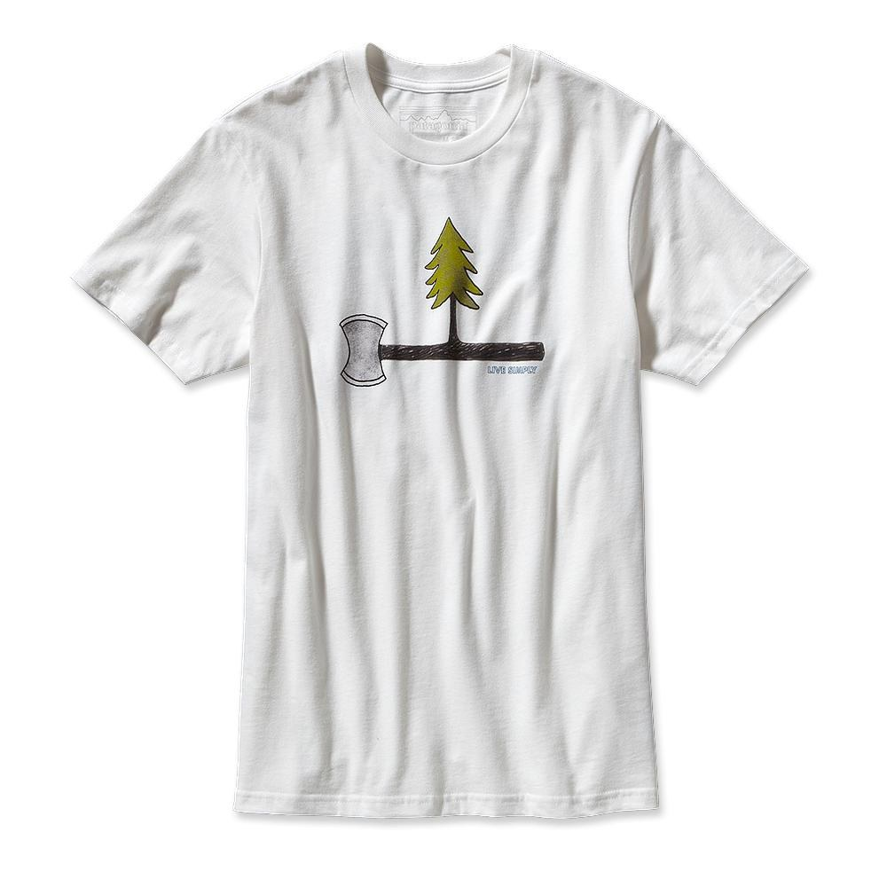 Patagonia Live Simply Every Tree Counts T-Shirt White-30