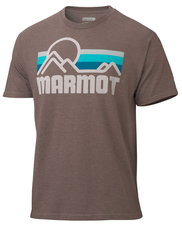 Marmot Marmot Coastal Tee SS Dark Brown Heather-30