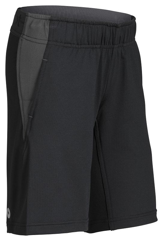 Marmot Boy's Zephyr Short Black/Slate Grey-30