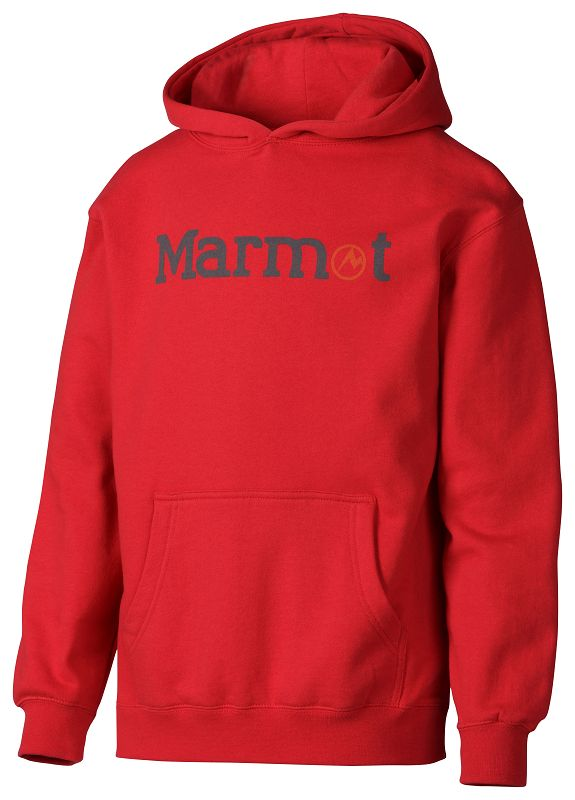 Marmot Boy's Pullover Hoody Team Red-30