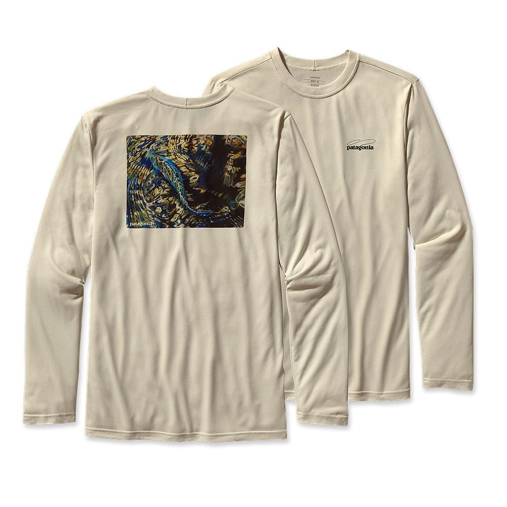 Patagonia Long-Sleeved Graphic Tech Fish Tee Trout Yin Yang: Raw Linen-30
