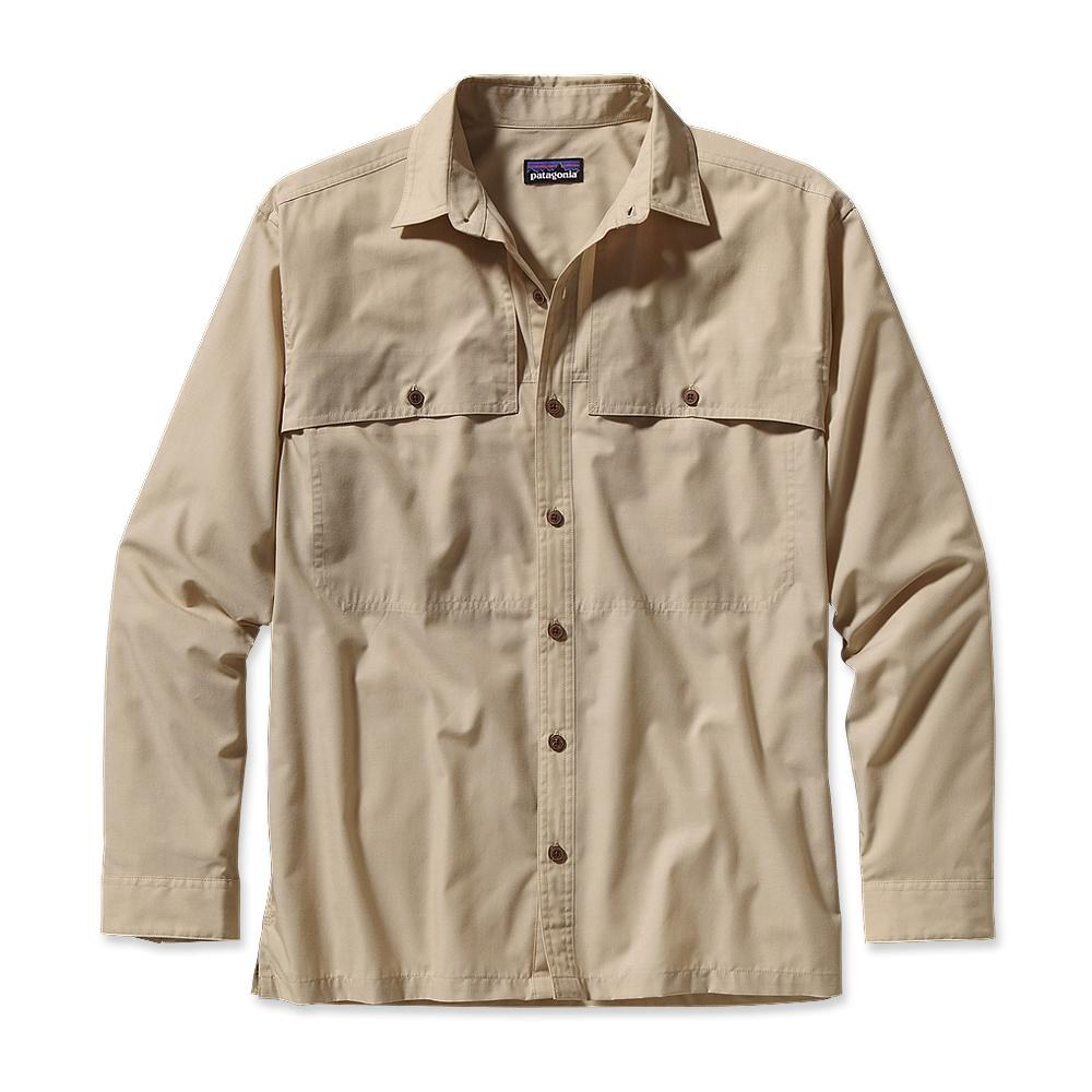 Patagonia Long-Sleeved Island Hopper Shirt Chambray: El Cap Khaki-30