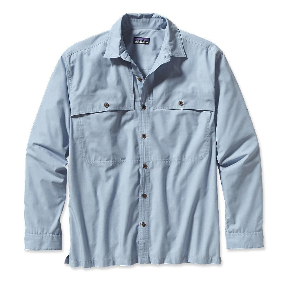 Patagonia Long-Sleeved Island Hopper Shirt Chambray: Leaden Blue-30