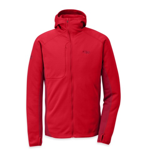 Outdoor Research - Men´s Radiant Hybird Hoody 444-HOT SAUCE/REDWOOD - Fleece Jackets - XL