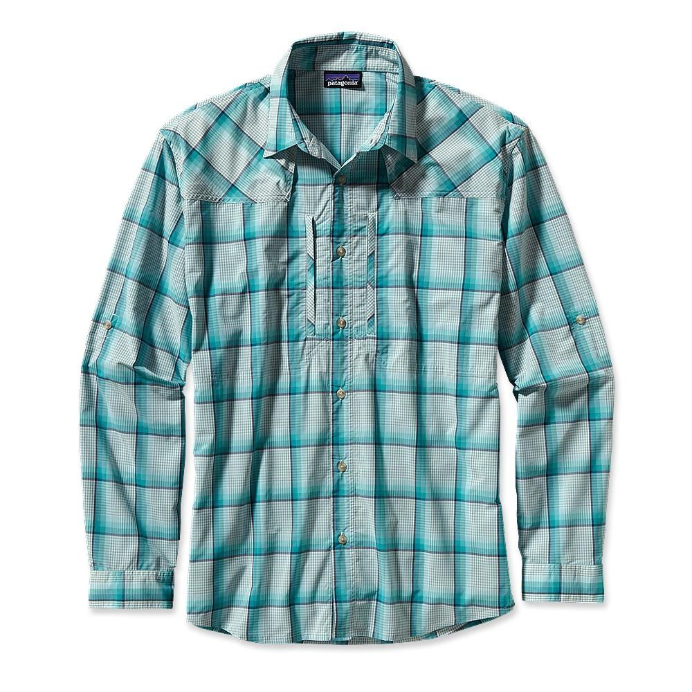 Patagonia Long-Sleeved Sun Stretch Shirt Sespe: Tobago Blue-30