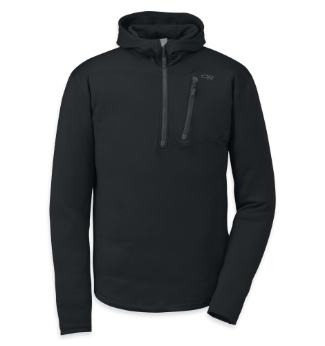 Outdoor Research Men´s Radiant HD Half-Zip Hoody 001-BLACK-30