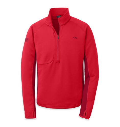 Outdoor Research Men´s Radiant Hybird Pullover 444-HOT SAUCE/REDWOOD-30