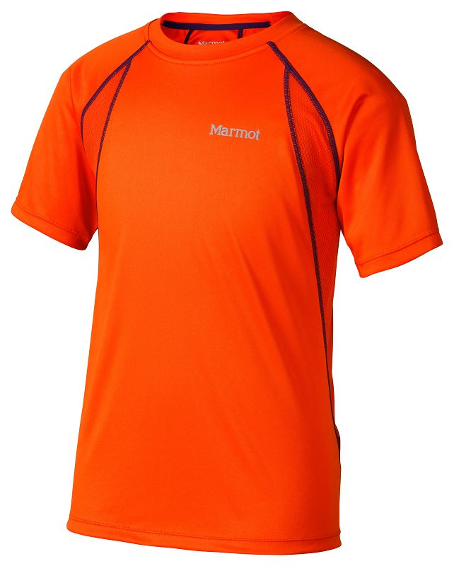 Marmot Boy's Fuse SS Blaze/Orange Haze-30