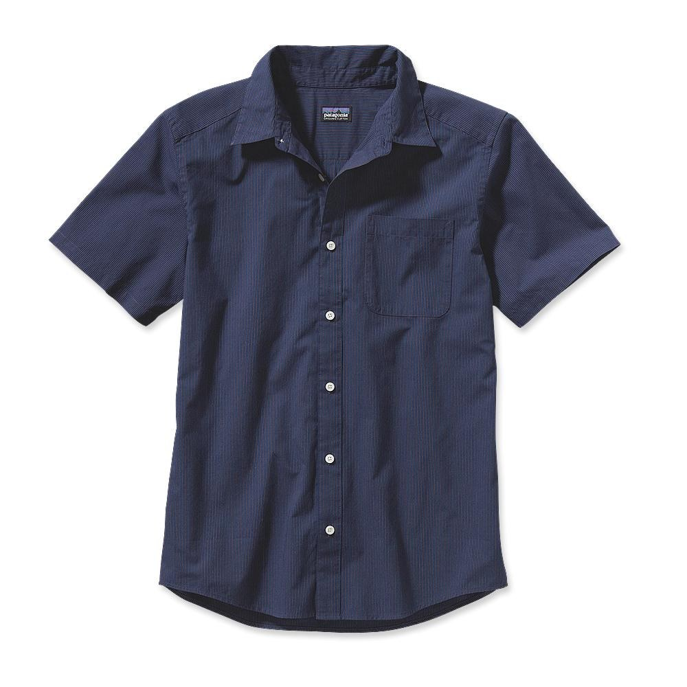 Patagonia S/S Go To Shirt Pismo Stripe: Classic Navy-30