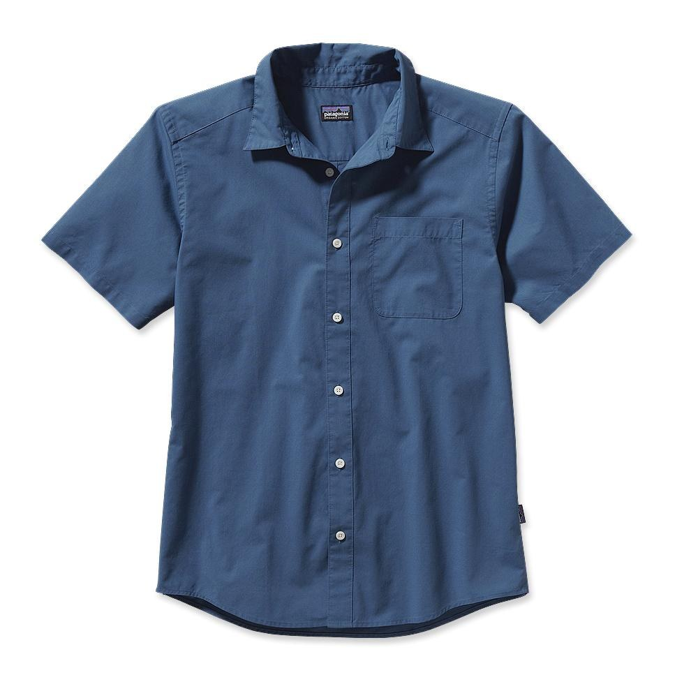 Patagonia S/S Go To Shirt Sisquoc: Glass Blue-30