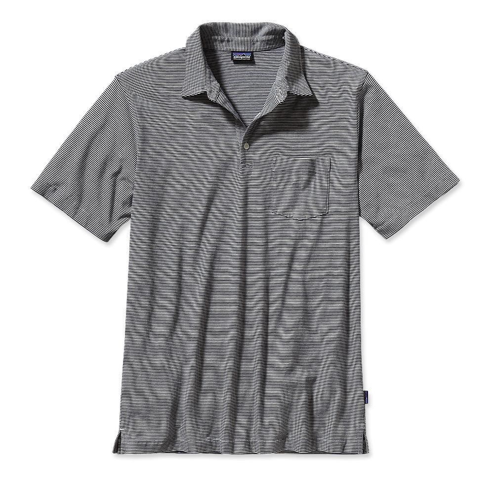 Patagonia Squeaky Clean Polo Fathom: Classic Navy Heater-30