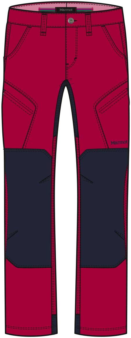 Marmot Wm's Limantour Pant Dark Raspberry/Dark Steel-30