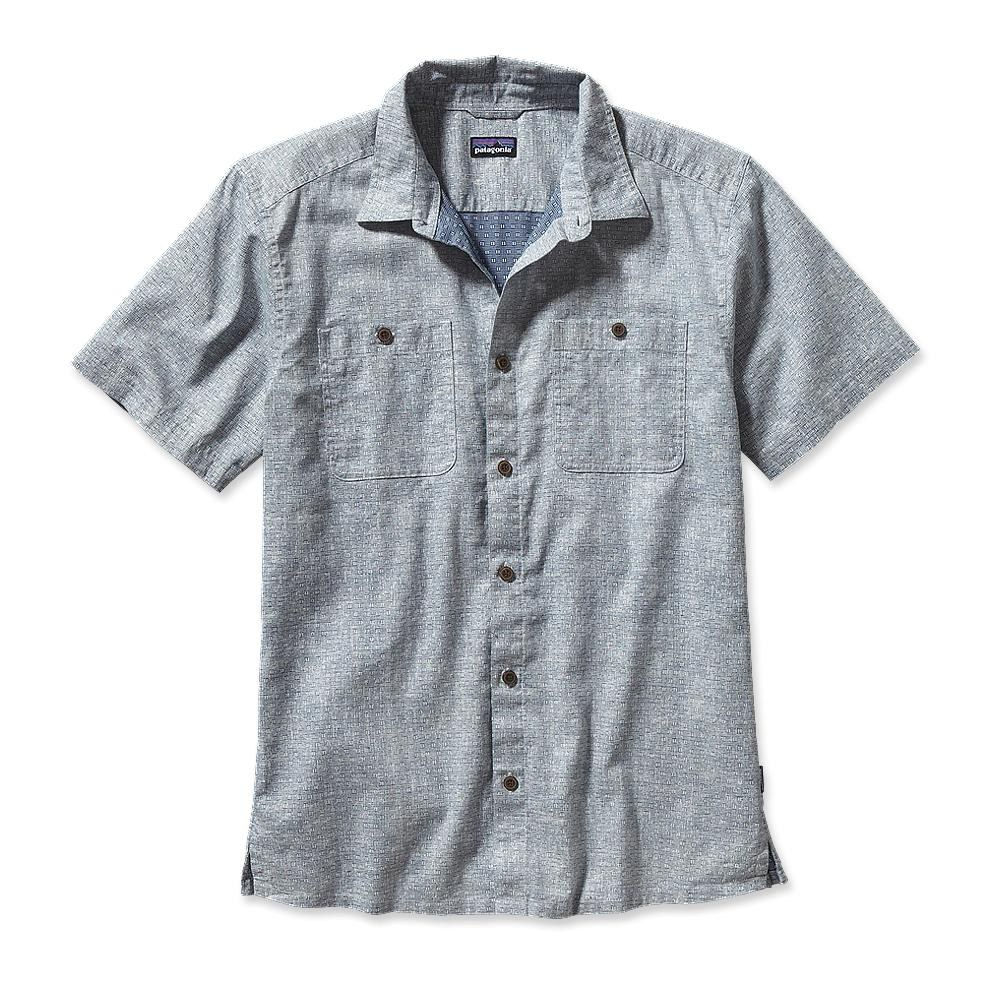 Patagonia Migration Hemp Shirt Rabbit's Foot: Glass Blue-30