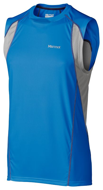 Marmot Interval Sleeveless Ceylon Blue/Steel-30