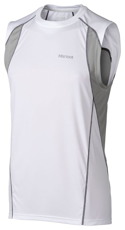 Marmot Interval Sleeveless White/Steel-30