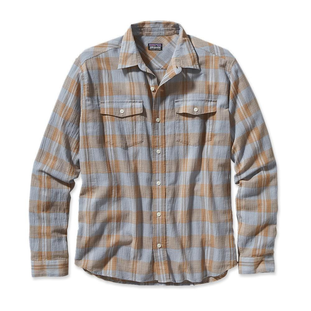 Patagonia Long-Sleeved A/C Steersman Shirt Pozo: Leaden Blue-30