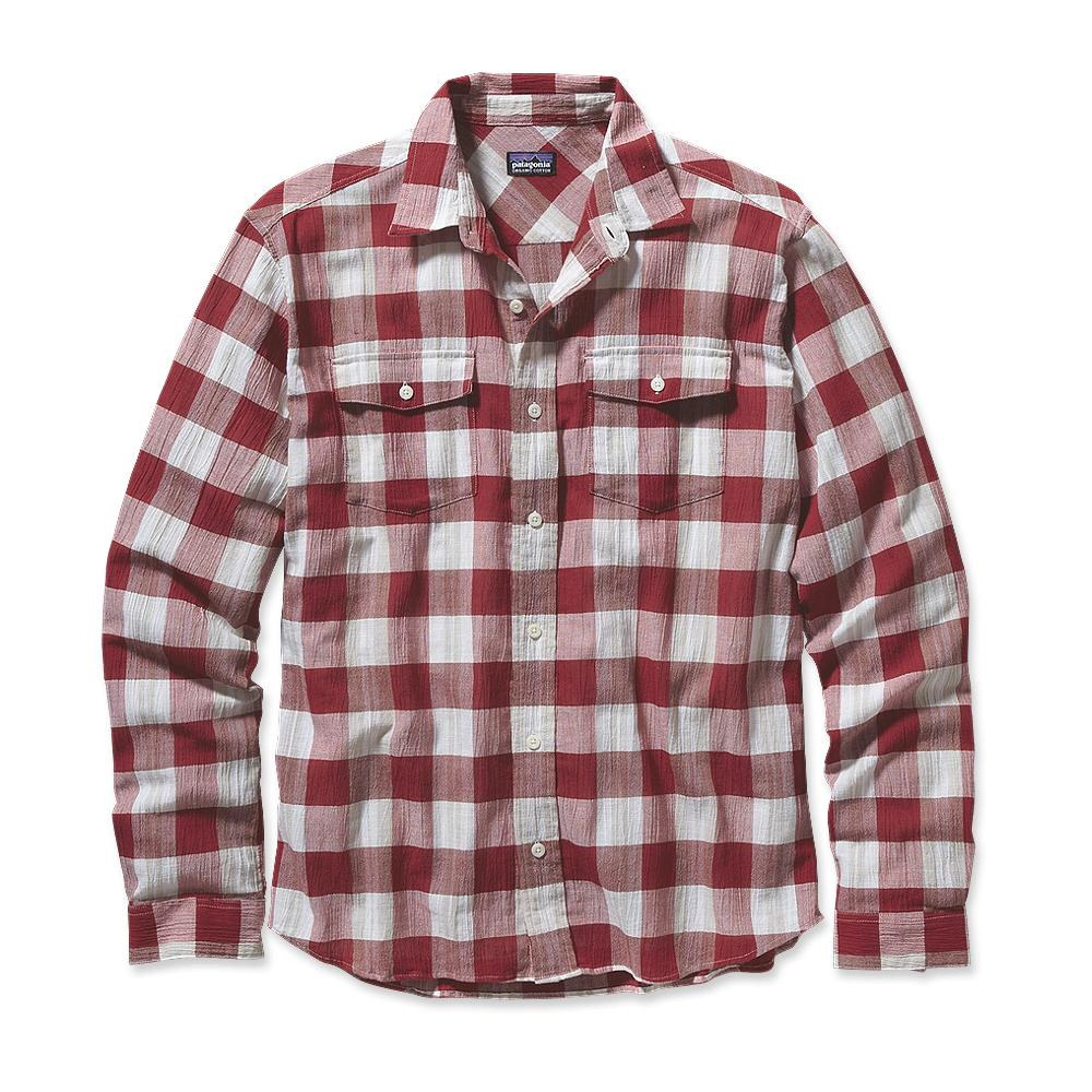 Patagonia Long-Sleeved A/C Steersman Shirt Pozo: Red Delicious-30