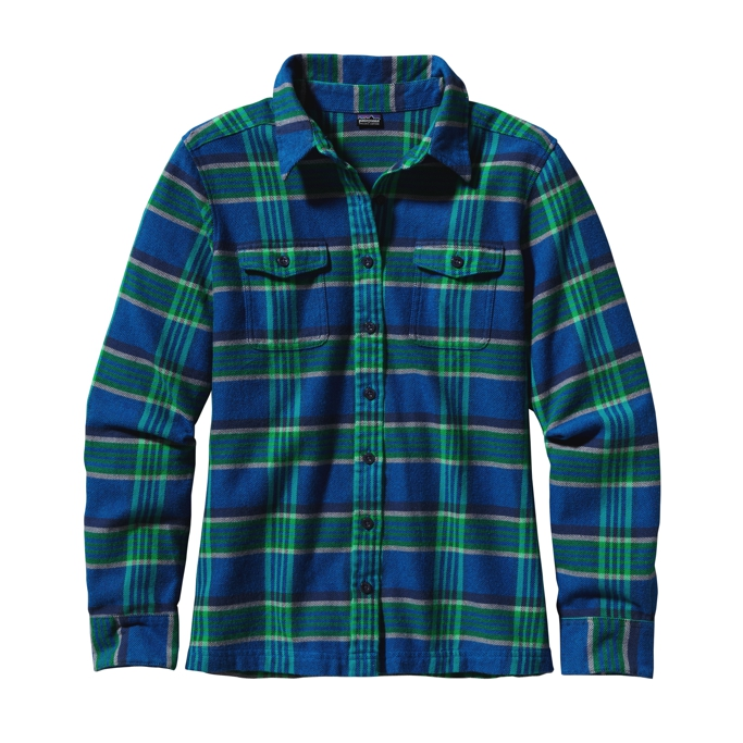Patagonia - L/S Fjord Flannel Shirt Blythe: Andes Blue - Shirts - 2