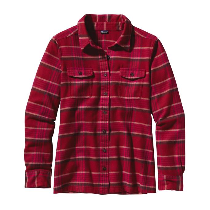 Patagonia - L/S Fjord Flannel Shirt Blythe: Radiant Magenta - Shirts - 14