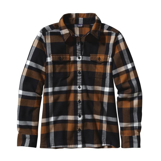Patagonia - L/S Fjord Flannel Shirt ChrystaLine: Black - Shirts -