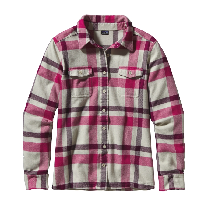 Patagonia - L/S Fjord Flannel Shirt ChrystaLine: Bleached Stone - Shirts - 8
