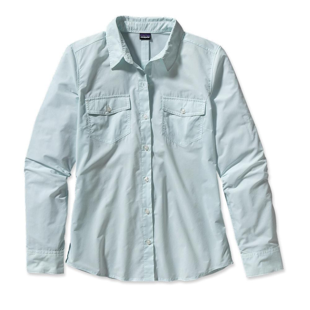 Patagonia Long-Sleeved Overcast Shirt Crossweave: Polar Blue-30