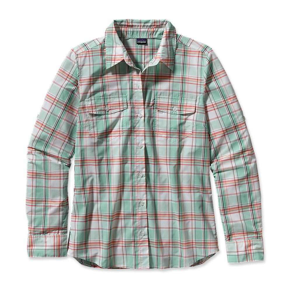 Patagonia Long-Sleeved Overcast Shirt Na Pali Plaid: Atoll Aqua-30