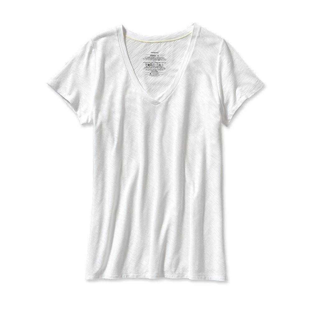 Patagonia - Necessity V-Neck White - T-Shirts - XL