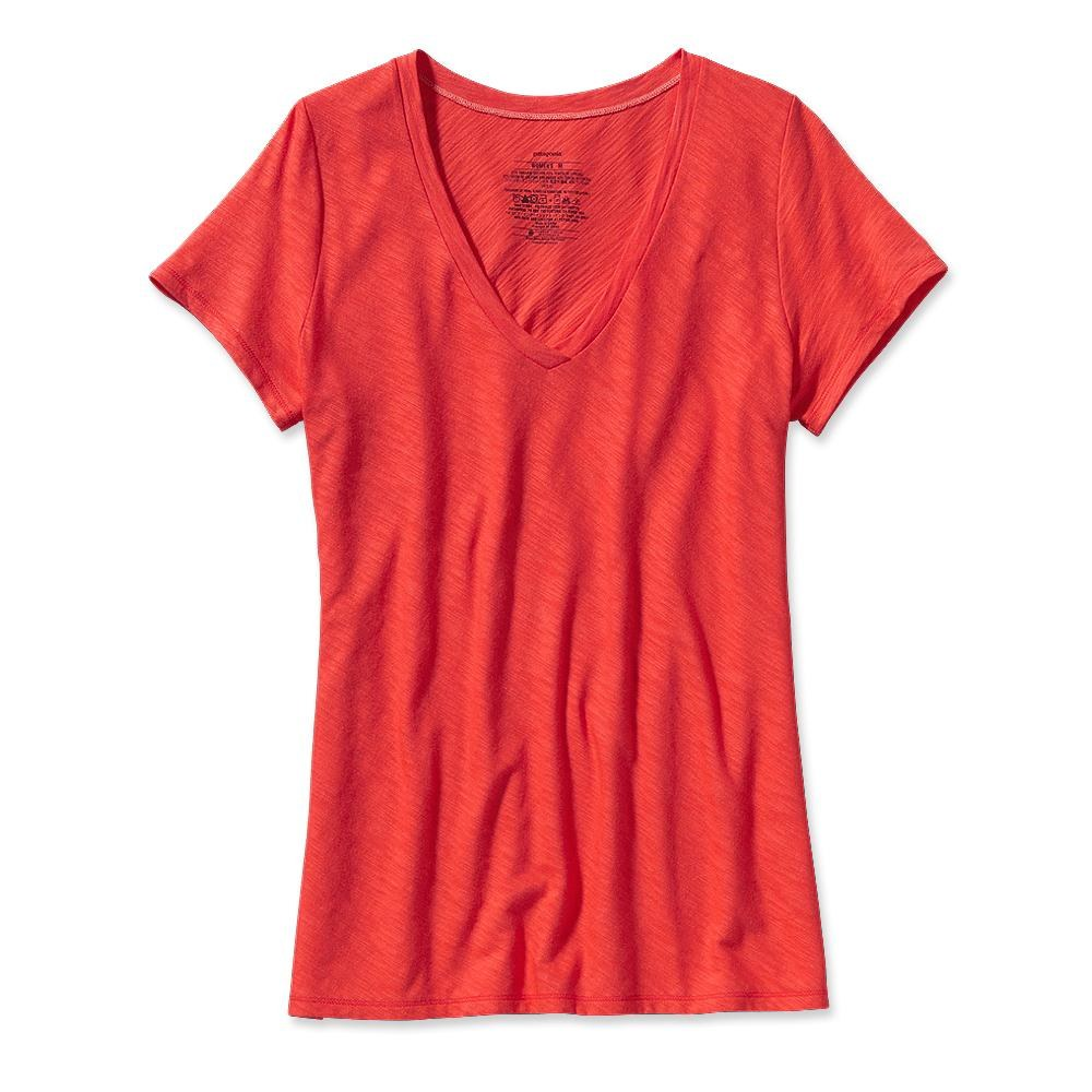 Patagonia Necessity V-Neck Catalan Coral-30
