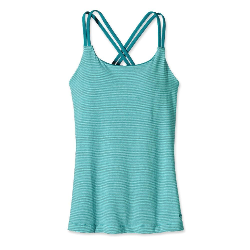 Patagonia Cross Back Tank Teensy Stripe: Tobago Blue-30