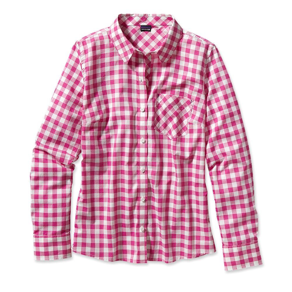 Patagonia Long-Sleeved Brookgreen Shirt Rilay: Radiant Magenta-30