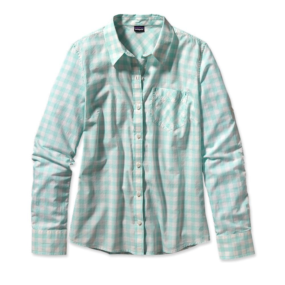 Patagonia Long-Sleeved Brookgreen Shirt Rilay: Polar Blue-30