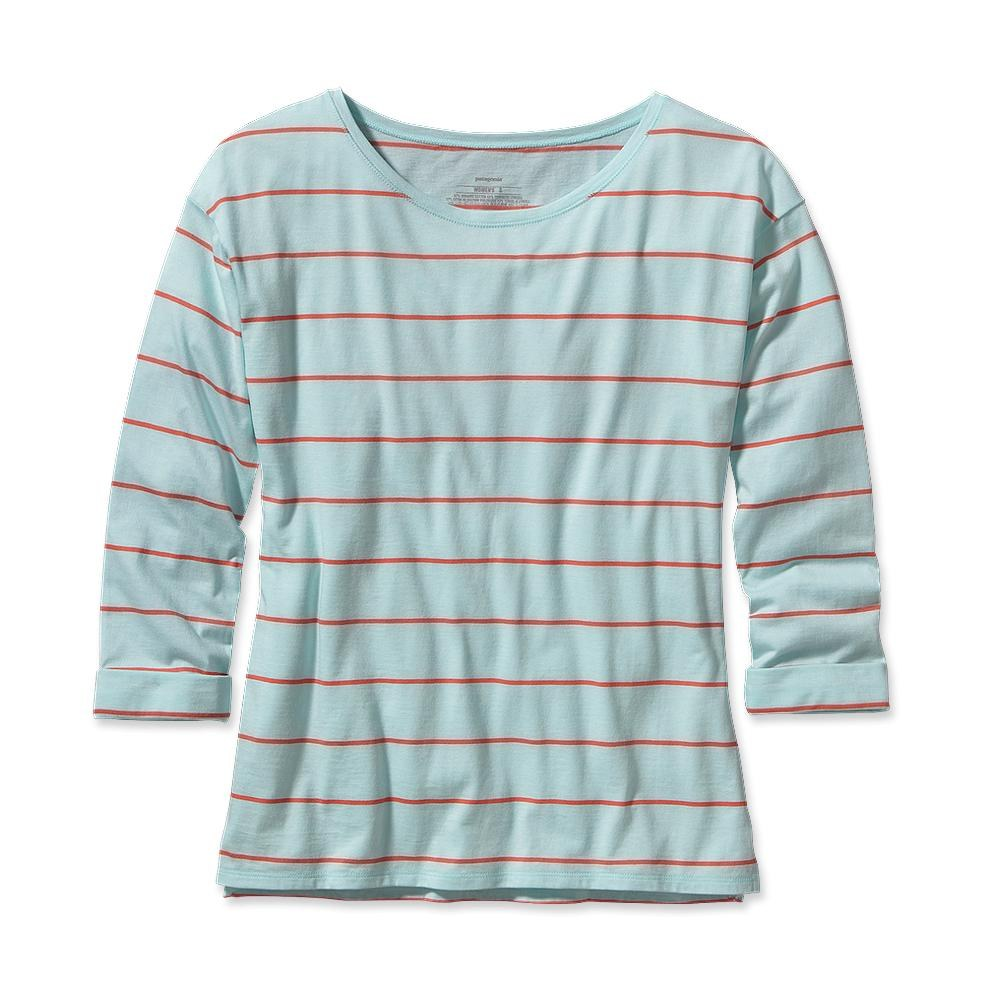 Patagonia Shallow Seas Top Congo Stripe: Polar Blue-30
