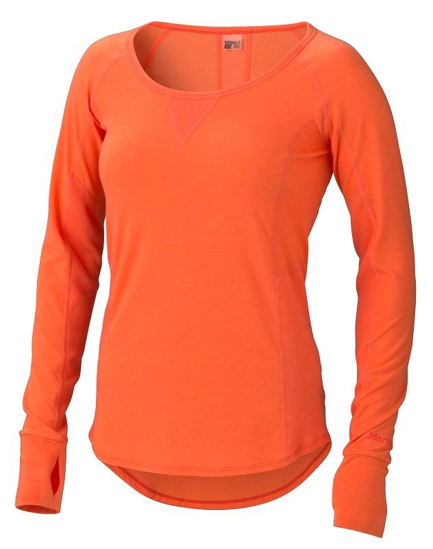Marmot Wm's Helen LS Orange Coral-30