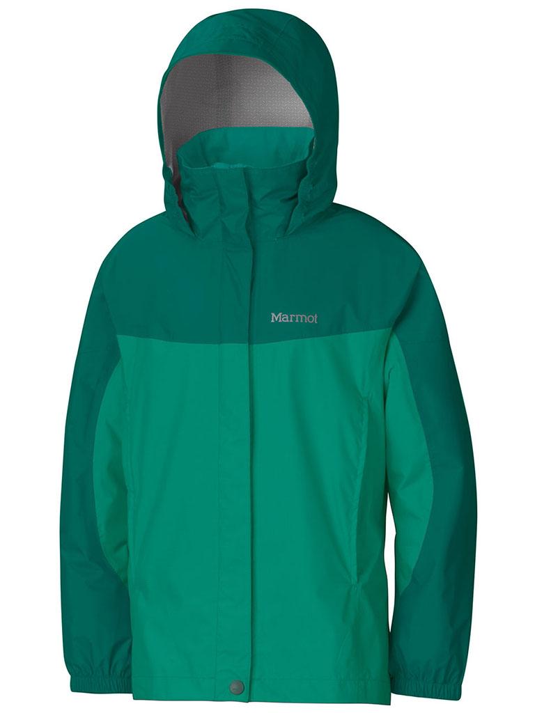 Marmot Girl's PreCip Jacket Gem Green/Green Garnet-30