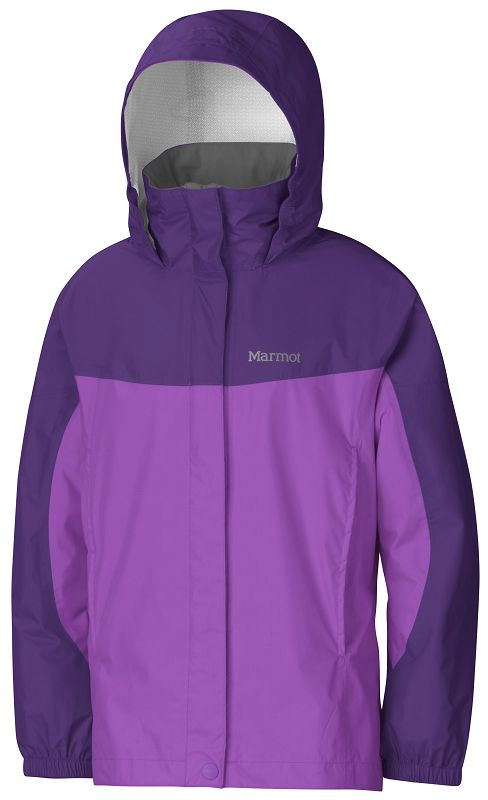 Marmot Girl's PreCip Jacket Purple Shadow/Lavender Violet-30