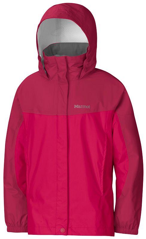 Marmot Girl's PreCip Jacket Raspberry/Dark Raspberry-30