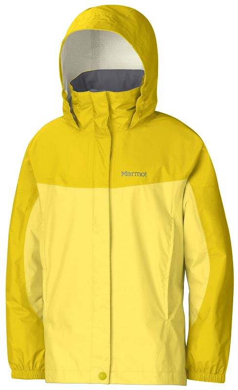 Marmot Girl's PreCip Jacket Sunlight/Yellow Vapor-30