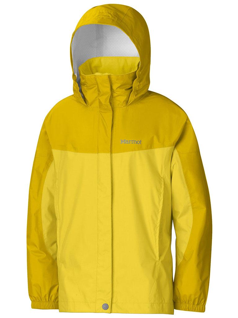 Marmot Girl's PreCip Jacket Vibrant Yellow/Yellow Vapor-30