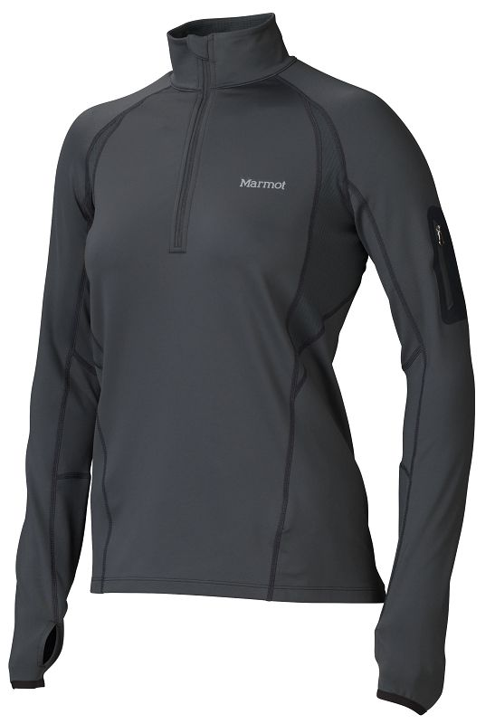 Marmot Wm's Elance 1/2 Zip LS Dark Steel-30