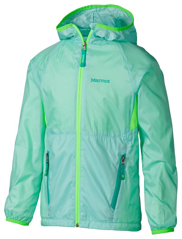 Marmot Girl's Ether Hoody Ice Green/Cosmic Green-30