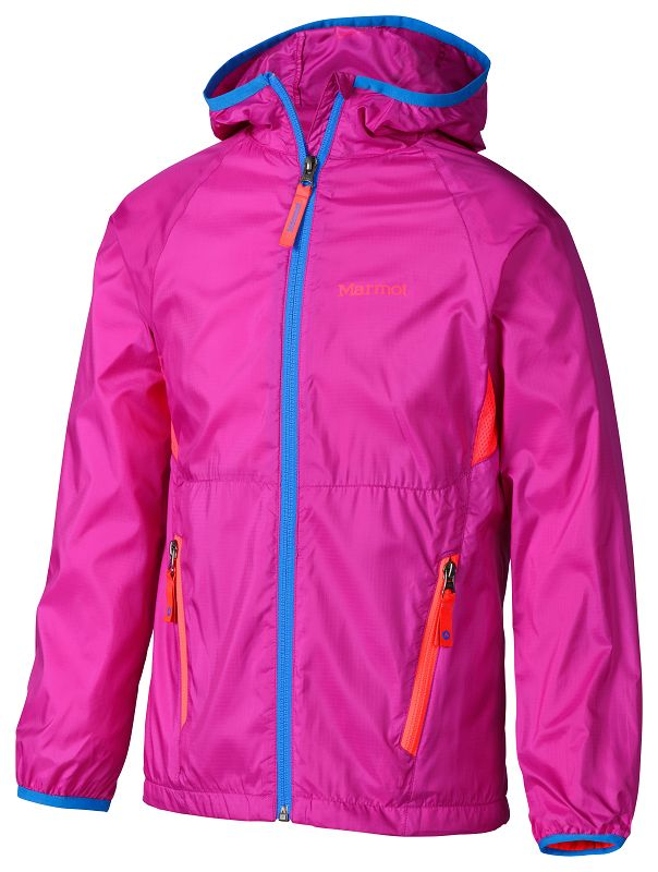 Marmot Girl's Ether Hoody Beet Purple/Bright Pink-30