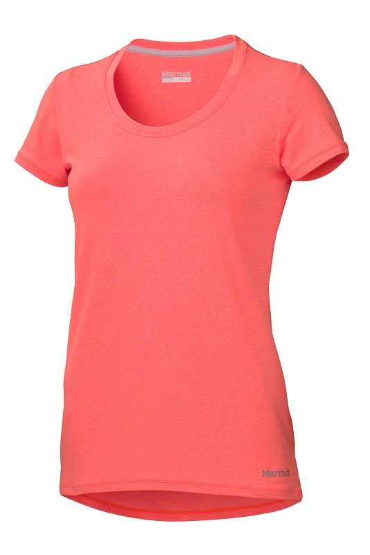 Marmot Wm's All Around Tee SS Bright Orange Heather-30