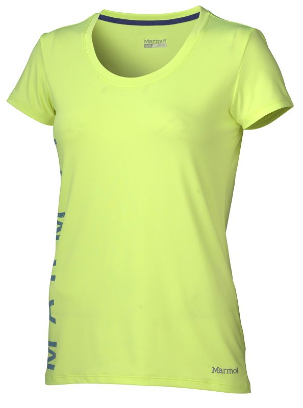 Marmot Wm's Post Time Tee SS Hyper Yellow Heather-30