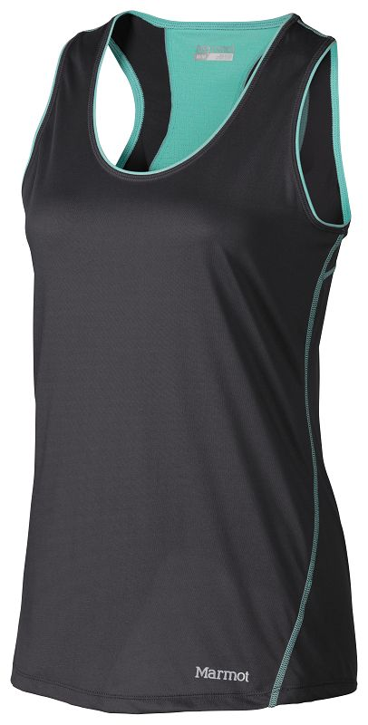 Marmot Wm's Essential Tank Dark Steel/Ice Green-30