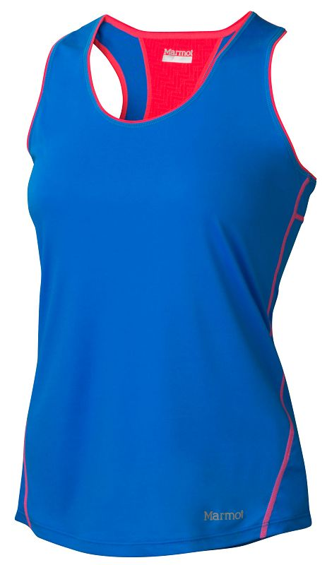 Marmot Wm's Essential Tank Ceylon Blue/Bright Pink-30