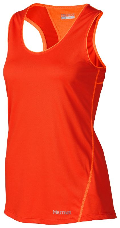 Marmot Wm's Essential Tank Coral Sunset/Bright Orange-30