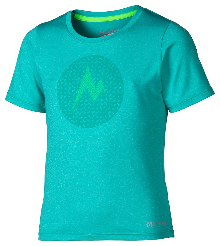 Marmot Girl's Post Time Tee SS Gem Green Heather-30