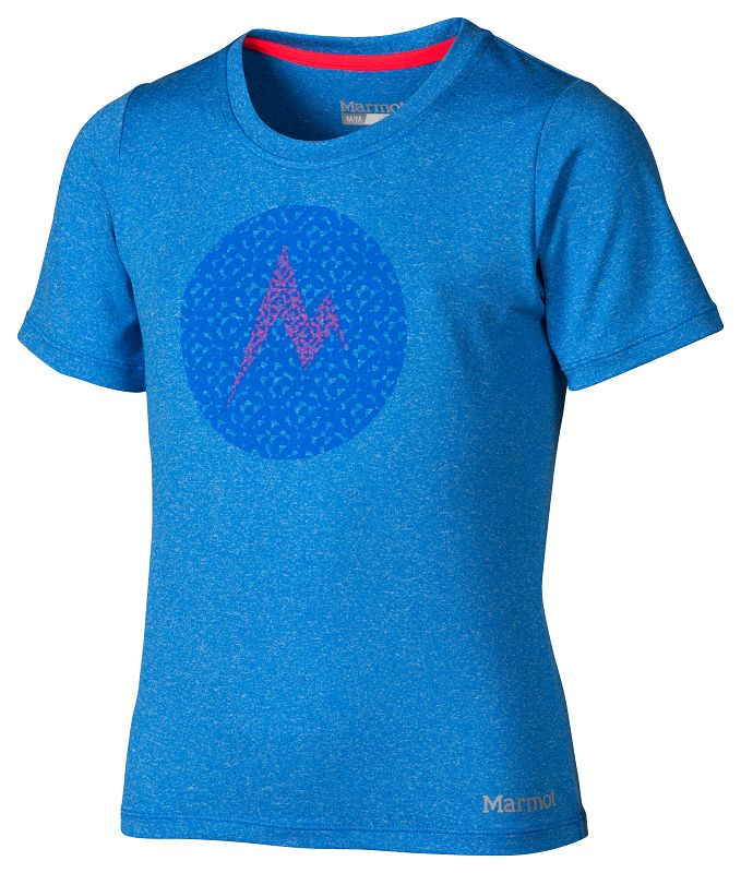 Marmot Girl's Post Time Tee SS Ceylon Blue Heather-30