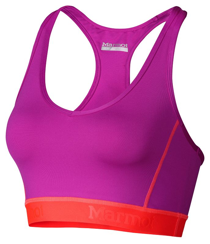 Marmot Wm's Layer Up Sportsbra Beet Purple/Bright Pink-30